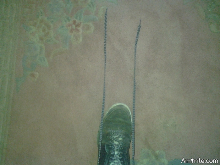 My shoe laces are ridiculously long.