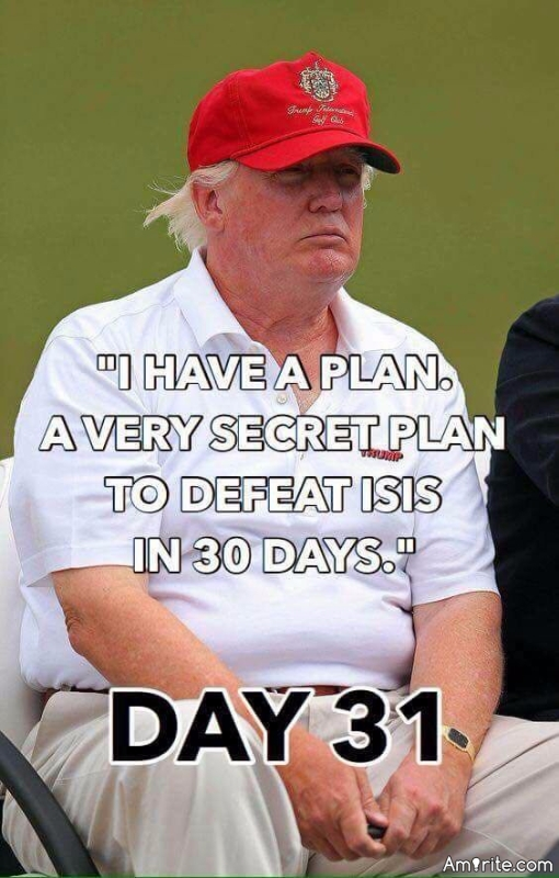 Must sill be a very secret.  Come on Mr. Trump, we are waiting.