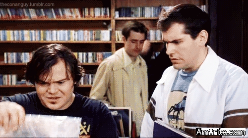 <b>Here I am, watching <em>High Fidelity</em> again, even tho it makes me want to kill myself.</b> <em>But it does have Jack Black...</em>