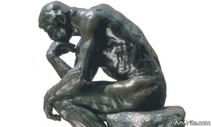 <b>What was Rodin's <em>the Thinker</em> actually thinking?</b> <em>I think he was inconsolable in grief....</em>
