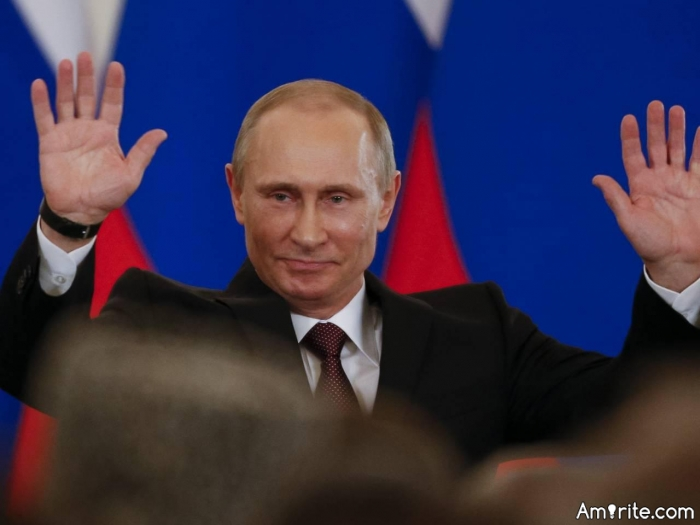 Why is Vladimir Putin the most powerful man in the world? Because he is allied with Japan and North Korea? Why do you think?