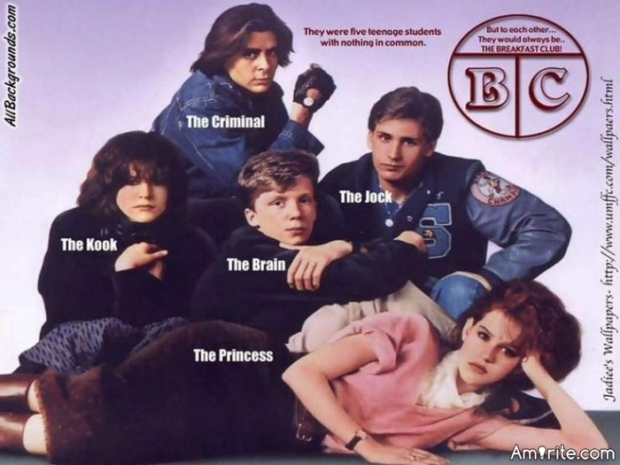 The Breakfast Club Question. Who were you?