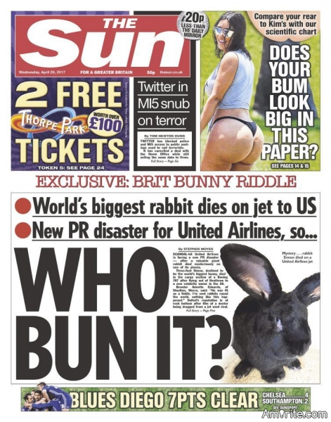 WHO KILLED SIMON RABBIT? United Airlines' latest PR disaster. Give us your best guess of what happened.