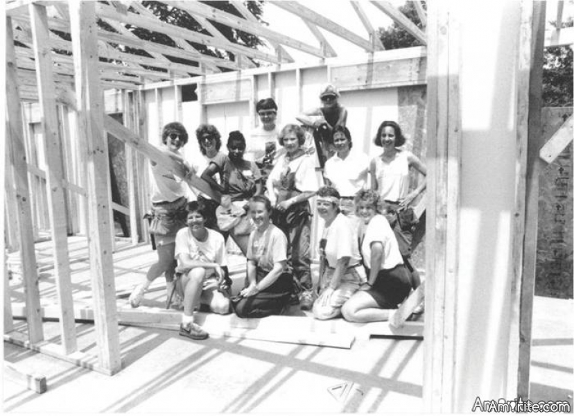 Had a whole story about working for habitat for humanity. I lost it. Not typing it again. Google the house that women built, charlotte, 1991. There is a photo. I am to the right of rosalynne carter. Was the site supervisor. Had that house dried in by the end if the weekend. Got to teach mrs. carter how to crown and cull 2x4 studs. Ive worked on a few others, here and there. Has anyone here volunteered for habitat??