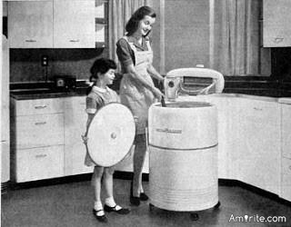 My mother was born in 1928, in the Texas panhandle. She has been through the depression, the dust bowl, WW11. She has seen many things develop and become ordinary. I asked her yesterday what she thought was our greatest achievement in her lifetime. Her answer.....the completely automatic washing machine:)