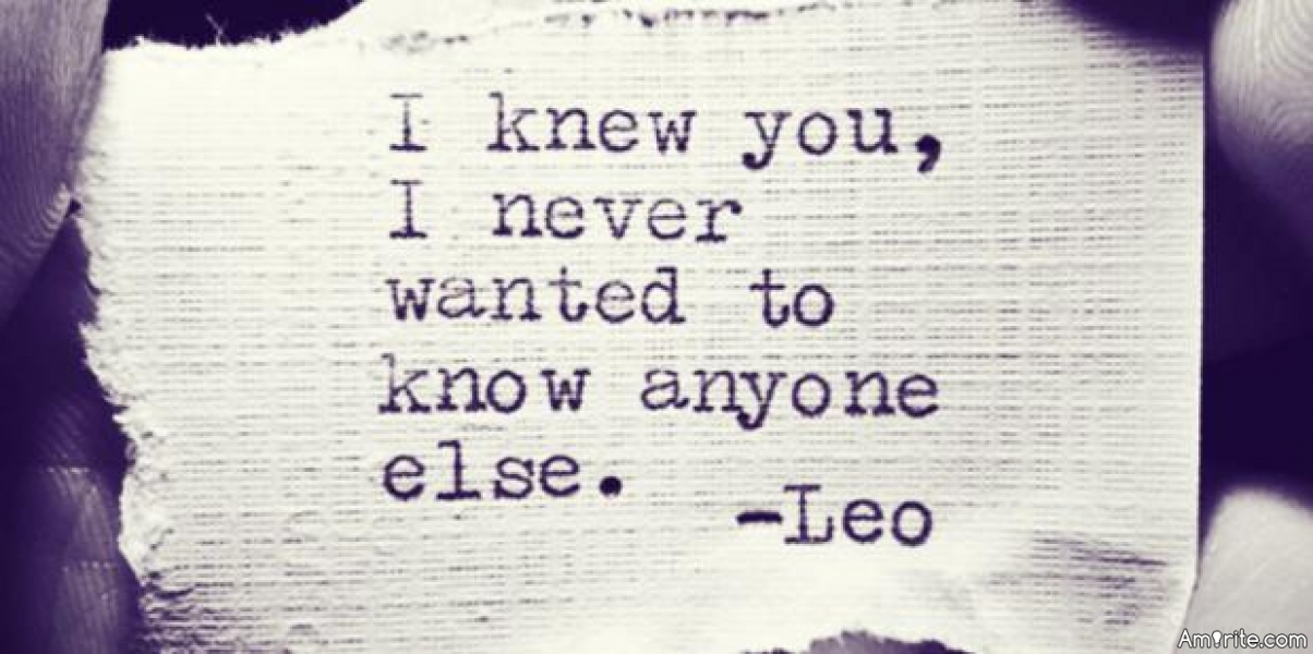 <b>Ever NOT say I Love You to someone...due to one reason or another?</b>