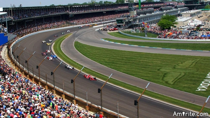 On Sunday May 28, the Indianapolis 500 Mile Race will take place.  Have you ever been to that Race?   It's a big deal here in Indy.