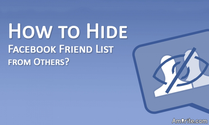 Can you hide your friends list on facebook, how?