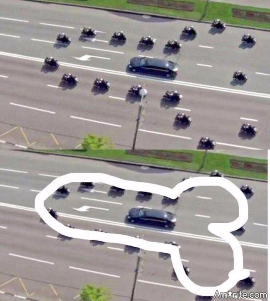 Trump is headed to the golf course and his motorcade does not disappoint. <strong>Amirite?</strong>