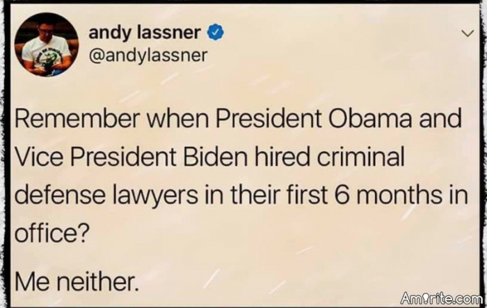 Can't think of many other presidents either.