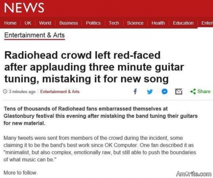 🎼 And the music-related headline of the year goes to...  🎼