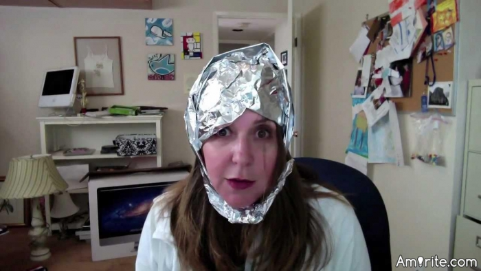 ☮️ I wish the tinfoil hat worked better. You guys are too loud SHHHHHH. <em>amirite?</em> ☮️
