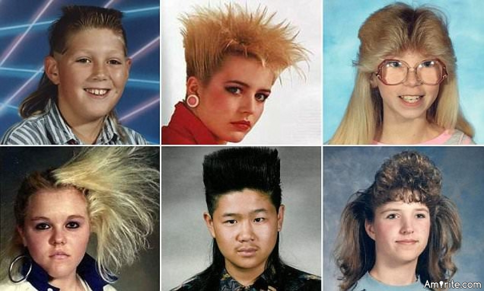 What decade had the best -and -WORST hair styles?