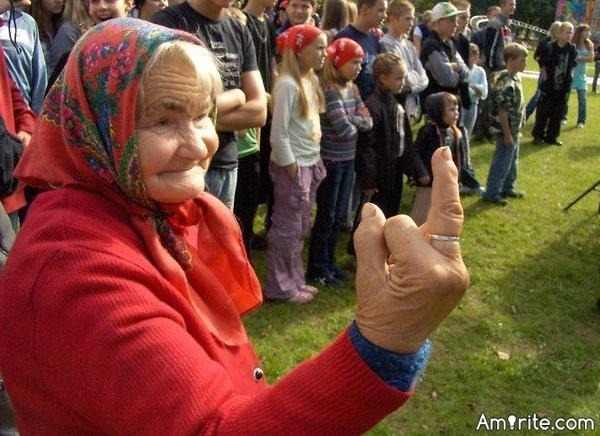 👵 A old lady just flipped me the bird. I don't care. I just hope I'm still that feisty when I'm 90. What says you?  👵