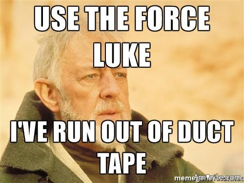 Just realized that with all the duct tape I have used in my life, I have never used it on actual ducts🙄