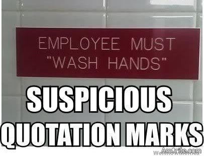 """I just don't get it. I was in the McDonald's bathroom and there was a sign that said """"Employees must wash hands""""...I think I am adult enough to wash my own hands🙄"""