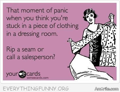 👗Dressing rooms are such a scam. They hold so much promise going in and so much defeat coming out. <em>amirite?</em> 👗