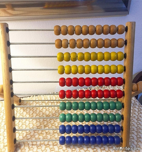 <b>You've never solved anything using an abacus.</b>
