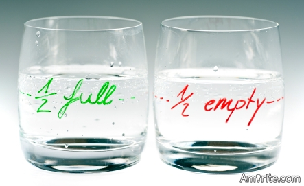 Optimist - the glass is half full, Pessimist - the glass is half empty. What other such examples can you give about this?