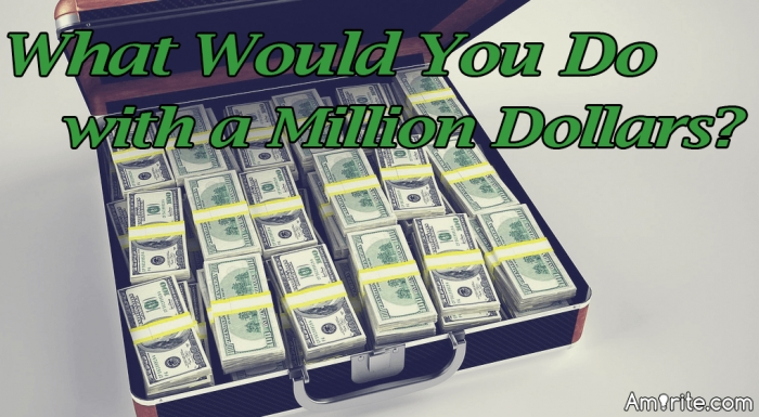 What would you do if you inherited 1 million dollars tomorrow?