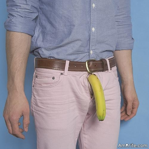Is having a banana in your pocket a fashion statement?