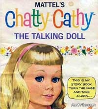 Do you know anyone that is a real Chatty Cathy? (And would you like to clip their string?)
