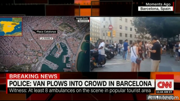 Vehicle plows into crowd in Barcelona, killing multiple people. Will these types of attacks ever stop? How many times does Europe need to bleed?