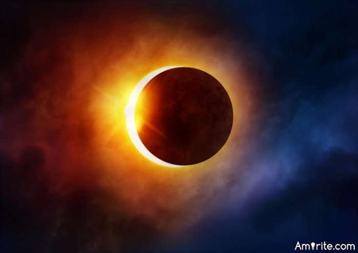 Does the solar eclipse and the trajectory of the moon and position of the sun make creationism more believable than the big whack theory?