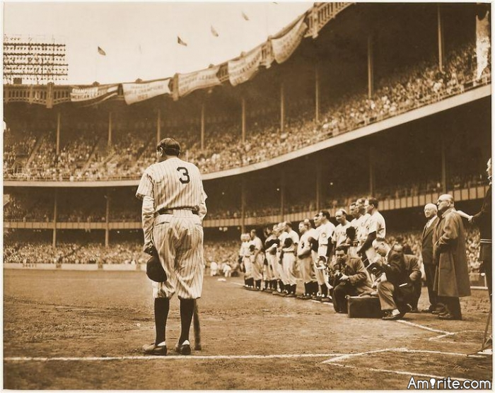 My favorite person in all of human history is Babe Ruth. Do you have a favorite person? Someone you idolize?