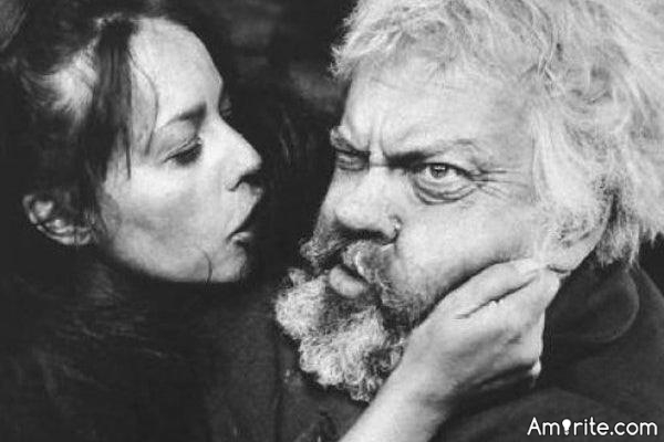 By the 1960s Orson Welles was encased in makeup and his own fat - like a huge operatic version of W. C. Fields. Audiences laughed when he appeared on the screen. He didn't need to choose the role of Falstaff: it chose him.