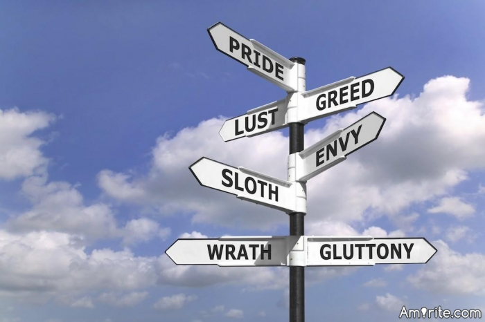 LUST, GLUTTONY, GREED, SLOTH, WRATH, ENVY, PRIDE Which of the seven deadly sins have you committed?