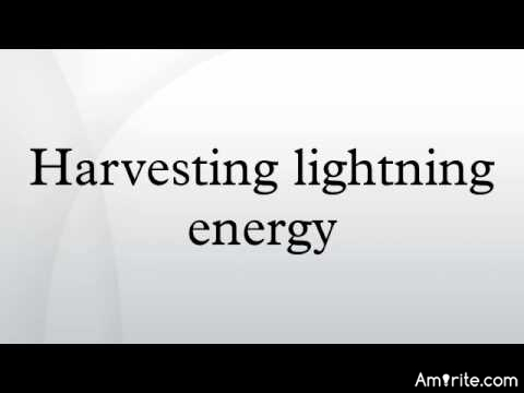 Can the power of lightning be harnessed?