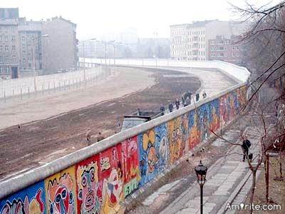 One of the best pranks for an omnipotent being to try out; rebuilding the Berlin Wall in a nanosecond and broadcasting the reactions of the locals, in real time, on whatthefuckjusthappened dot com.