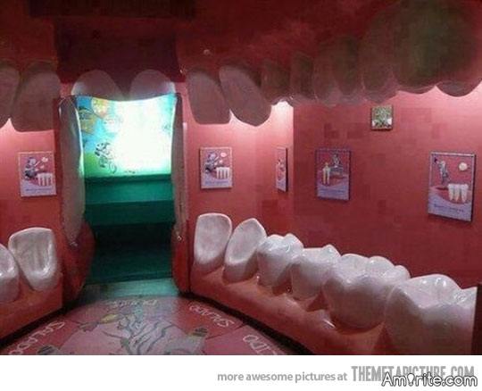 Would this dentist's waiting room make you nervous?