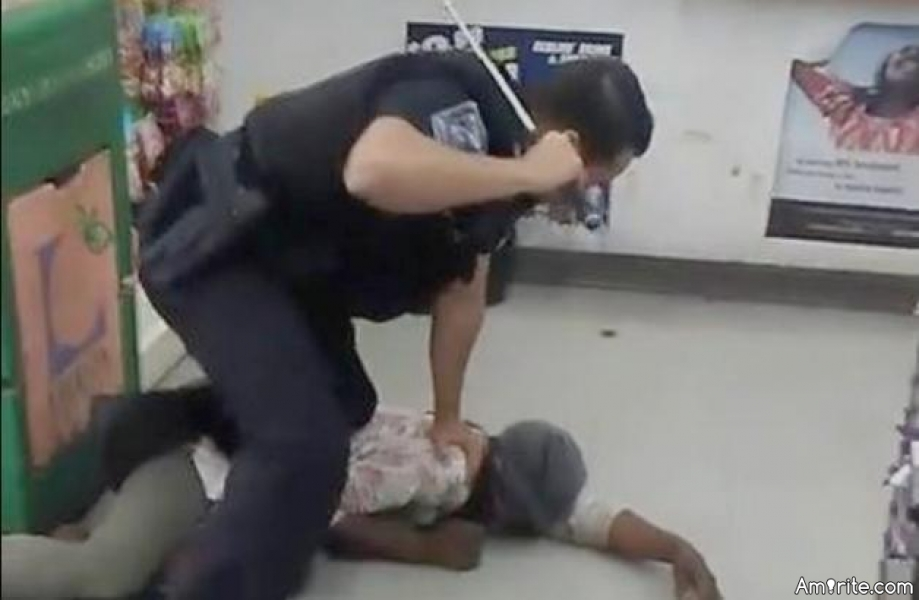 DeKalb County police officer repeatedly beating a defenseless homeless woman - in my mind, the officer's behavior was subhuman - what do you think?