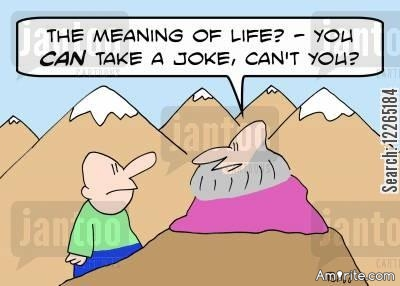Wisdom never makes you laugh.