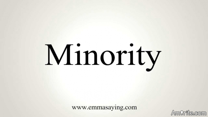 The words &#34;minority&#34; and &#34;discrimination&#34; go hand-in-hand, <strong>amirite?</strong>