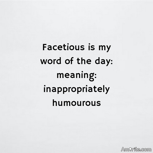 <b>You enjoy being facetious even more than being sarcastic.</b>