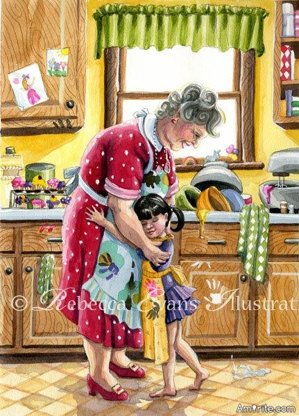 "Cooking with my Nanny ""ahhhh"" what Sweet memories this image evokes in me. Share your Sweet memories of Cooking with your Grandparents or any Sweet memory of when you were a Nipper."