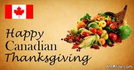 Happy Thanksgiving to all of our Canadian friends!