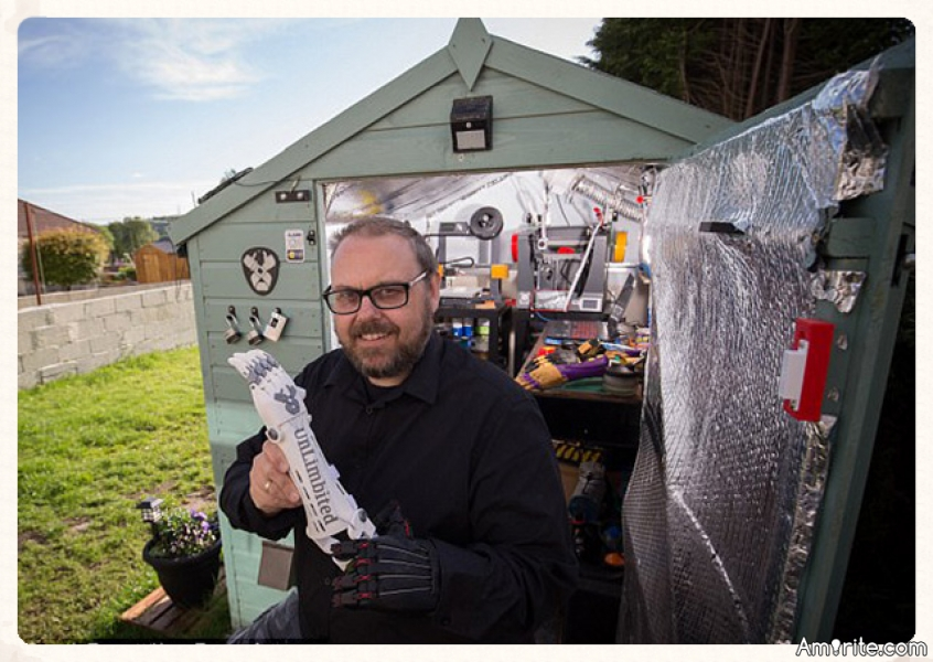 Inventor Makes 'Cool' Prosthetic Limbs For Kids In His Garden Shed For Free.