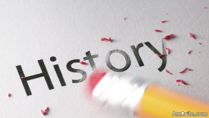 Occasionally I have heard urged that the Left is rewriting history.  When/where?