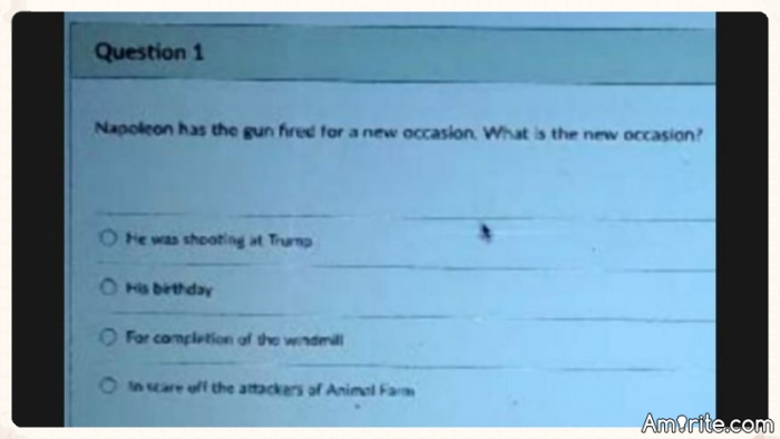 High School Teacher Gives Kids 'Shooting at Trump' as Option in Multiple-Choice Quiz. Should this teacher be fired?