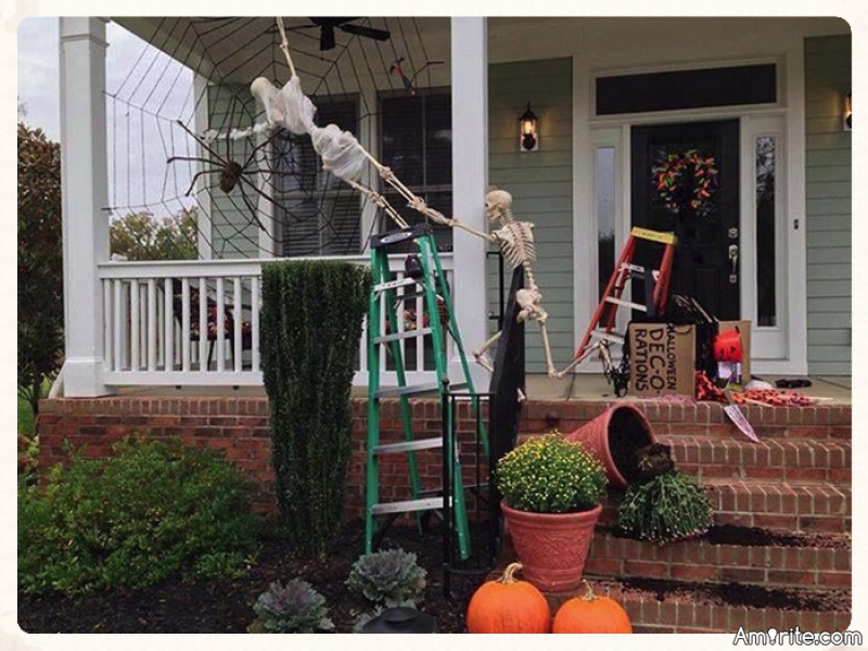 10 Funny Skeleton Decorations To Try Out This Halloween.  Skeletons are typically used to frighten people during Halloween season, but they can also be posed into funny scenes that will make your home the talk of the neighborhood!