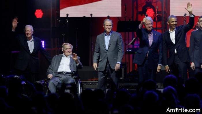 """Former Presidents United For """"One America Appeal"""", A Great Visual For A Worthy Cause"""