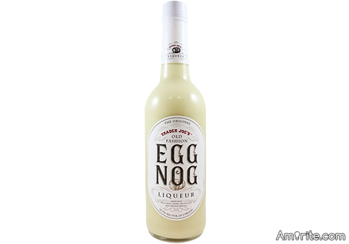 I bought some Egg Nog liqueur at Trader Joe's the other day and man does it bring Egg Nog to life! Wanna try it?