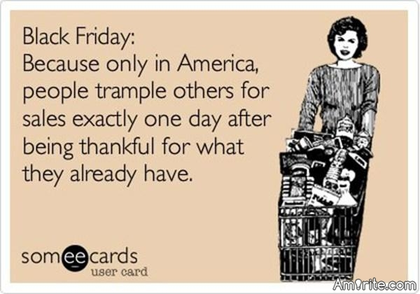 "Here in the states we have our own ""Running of the Bulls"" we call it Black Friday shopping 🙄"
