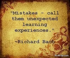 The most valuable lessons in our Life are the ones we learn from the mistakes we make. Amirite ?