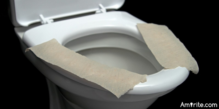 What would be the worst thing to use instead if you ran out of toilet paper?