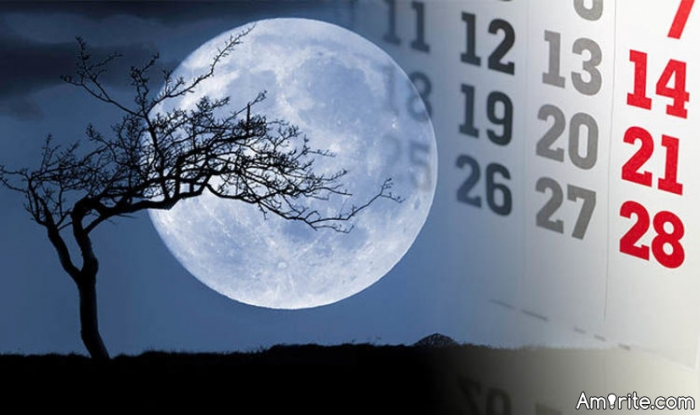 January 31 is a blue moon.  It won't be blue too bad eh?